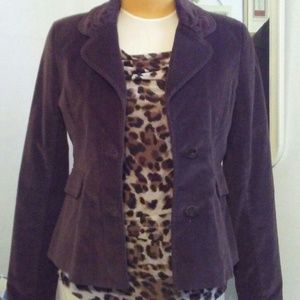 Fossil Chocolate Brown Blazer in Crushed Velvet